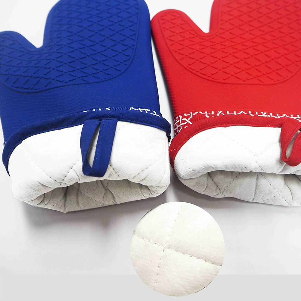 464F Heat Resistant and Non-Slip Silicone Oven Mitt FOR Cooking,Kitchen ,BBQ Grill
