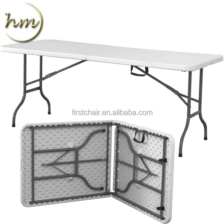 Outdoor Wedding Party 6ft Rectangular Plastic Folding Table