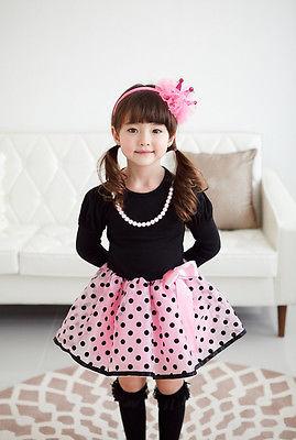2016 Christmas Baby font b Dresses b font Girls Princess Polka Dot Plaid Long Sleeve Party