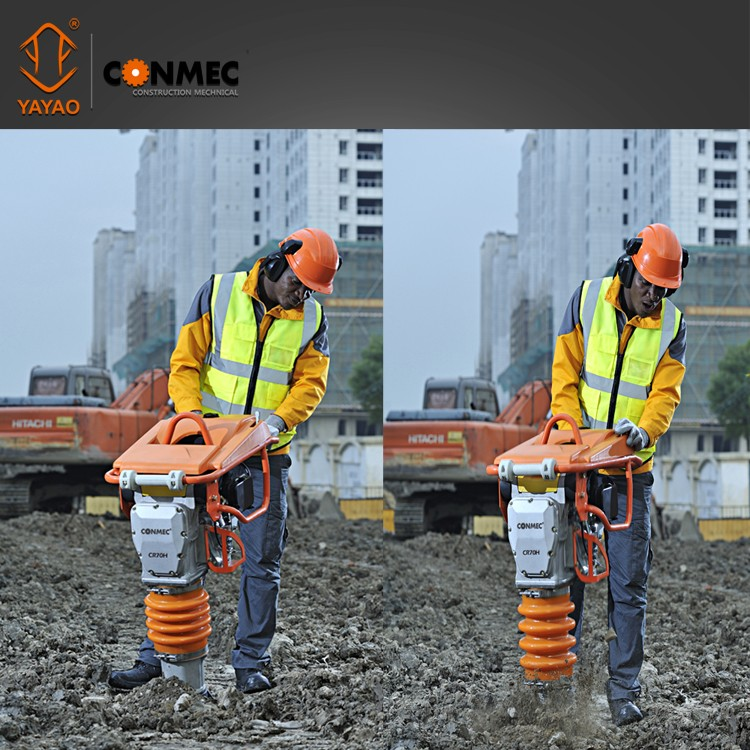 15kN gasoline soil compaction rammer CR72H Mikasa type with Honda engine and ingenious throttle lever
