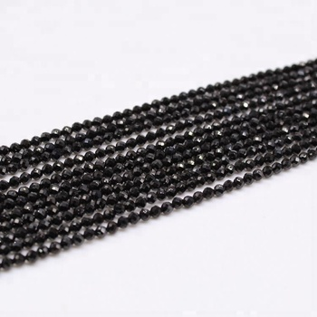 Cheap Wholesale Natural Semi-Precious Stone Black Agate Beads For Jewelry Making