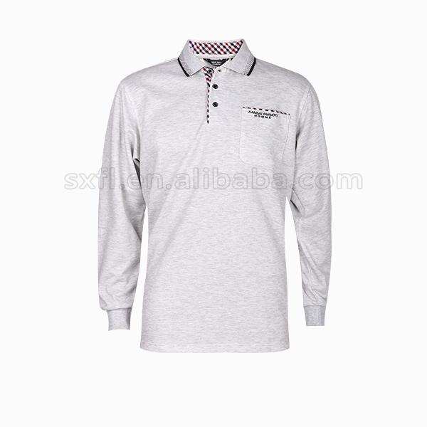 Men Polo Shirts White Embroidered
