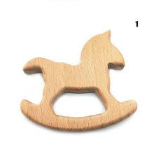 1 шт. деревянные игрушки для прорезывания зубов детский браслет ювелирные изделия в форме животных прорезывание зубов для ребенка органиче...(Китай)