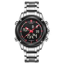NAVIFORCE люксовый бренд, мужские 3Bar водонепроницаемые, светодиодный, спортивные, военные часы, мужские, кварцевые, аналоговые, цифровые наручны...(Китай)
