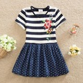 Neat Retail 2016 short sleeved Baby girl clothes princess summer dress girl party dress tutu dresses