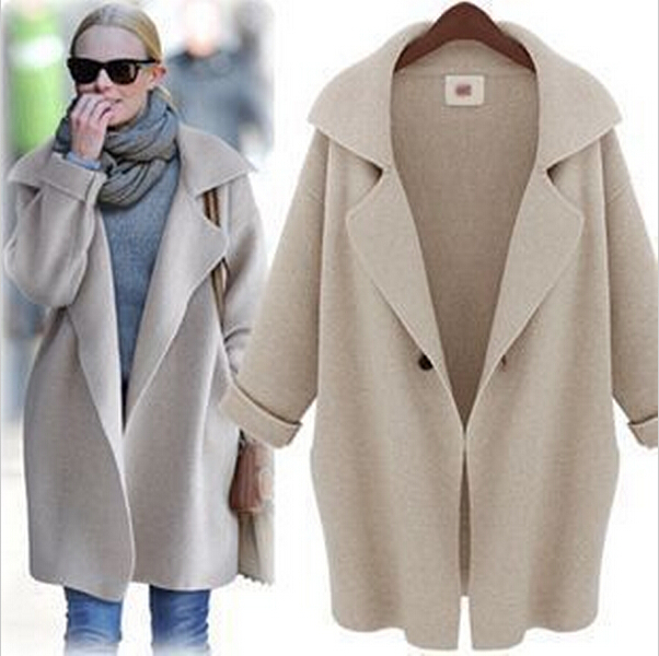 2014 new autumn women fashion outwear European American style cardigan coat  ladies knitted womans Thick loose 612658c1b