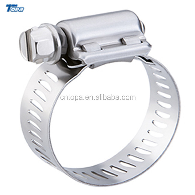 Stainless Steel Plastic Butterfly Handl  Heavy Duty Mini Handle American Style Hose Clamps Adjustable Clamp