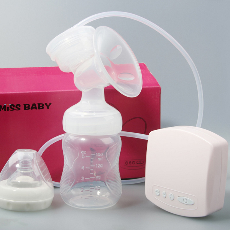 Electrical Pink Electric Breast Pump Postpartum Breast Feeding Baby Kids Suction