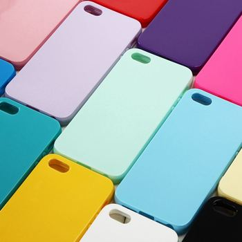 Soft Gel Rubber Phone Cases for iPhone 5 SE Cute Solid Candy Color TPU Back Cover Case for iPhone 5 Silicone Case for iPhone 5S