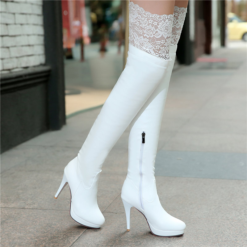 huge discount 70695 890b2 New Women Boots Sexy Red Bottom Thigh High Boots ...