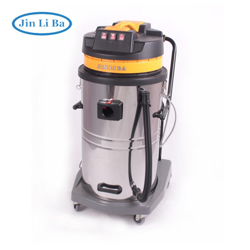 Промышленный пылесос для сухой и влажной уборки с супер мощным двигателем большой емкости 220 л в