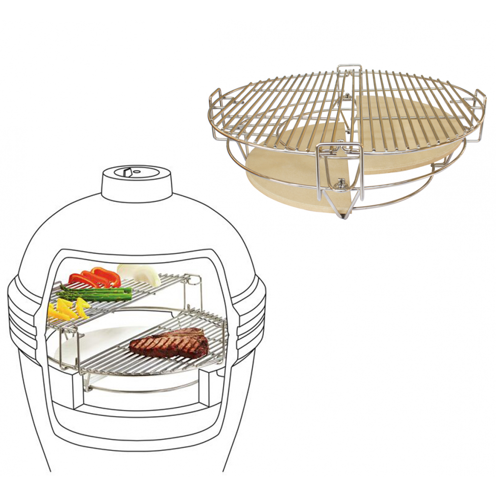 Kamado Accessories Divide & Conquer Cooking System