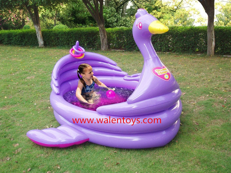 A Yellow Raft In Blue Water Quotes: Toddler Inflatable Kiddie Swimming Pool Portable Wading
