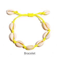 Женские богемные браслеты IF ME, цветные браслеты на ногу из натуральных морских ракушек, летние пляжные украшения для ног, 2019(Китай)