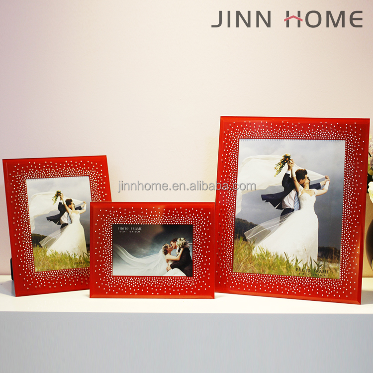Wedding Decor Personalized Lovely 4x6 5x7 Glass Red Bling Glitter Frame Picture Frames Family Stand Table Funia Photo Frame Buy 5x7 Picture Frames Bling Glitter Frame Funia Photo Frame Product On Alibaba Com