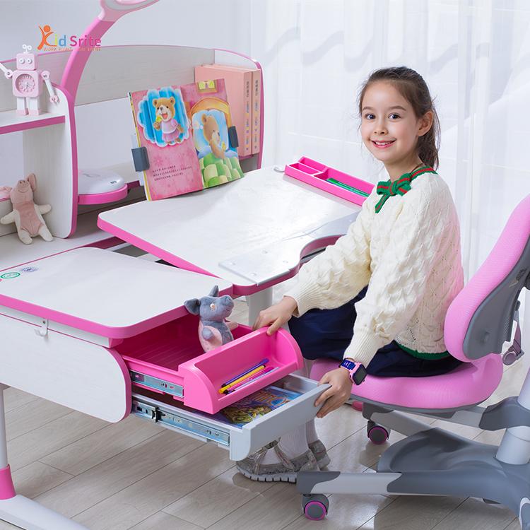 MOQ 1 Kid Srite Hot Sale Ergonomic Kids Study Table Study Chair And Table