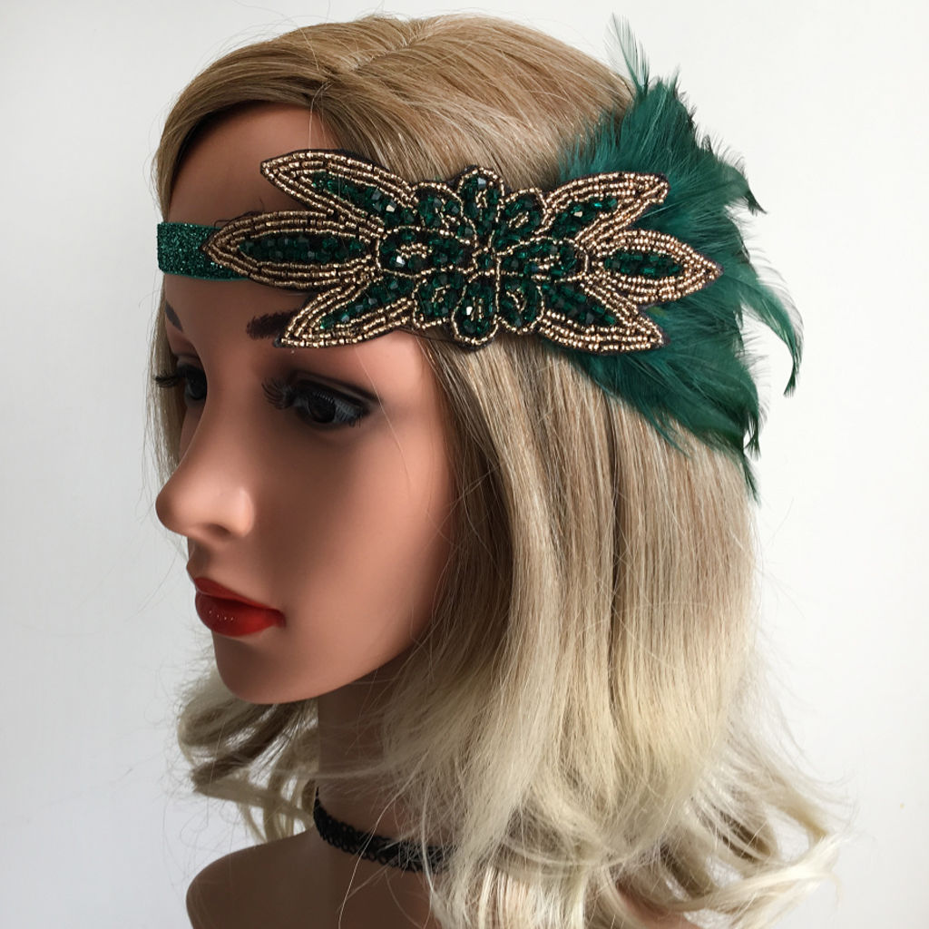 Feather Headband Gatsby 1920s Flapper Fascinator Party Bridal Prom Headpiece