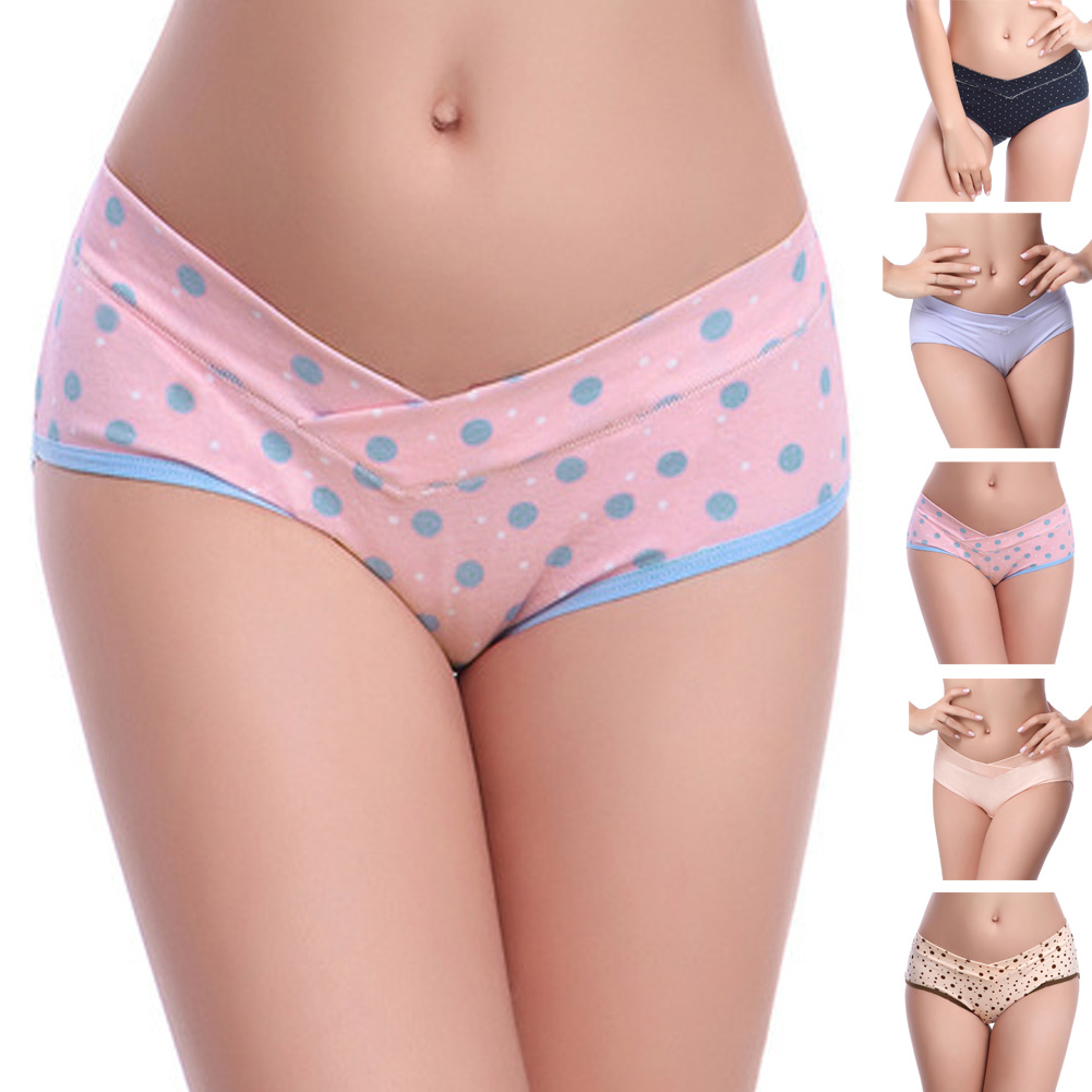 L XL XXL Pregnant Women Underwear Low waist Briefs U shaped Maternity Cotton Panties LD789