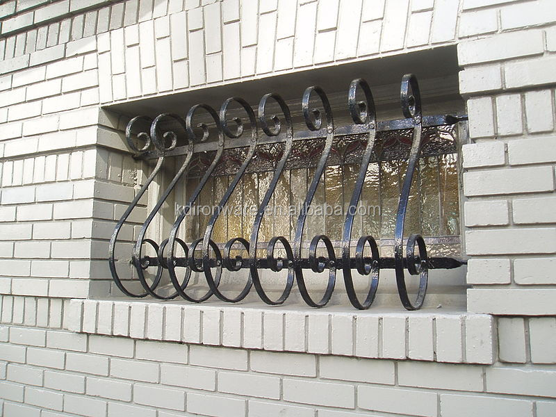 Popular Wrought Iron Decorative Window Grates