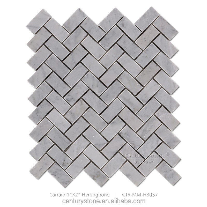 Gray Herringbone Carrara White Marble Mosaic Kitchen Floor Tile Buy Kitchen Floor Tile Herringbone Living Room Floor Tiles White Marble Mosaic Living Room Floor Tiles Product On Alibaba Com