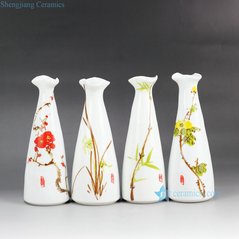 Rzea01 J Hand Paint Winter Blossom Orchid Bamboo Chrysanthemum Pattern Cute Matte White Ceramic Flower Vases Buy Cute Flower Vases Hand Paint Ceramic Vase Matte White Ceramic Flower Vases Product On Alibaba Com