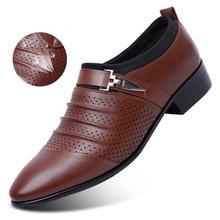Мужские Формальные туфли с острым носком, свадебные туфли-оксфорды для мужчин, модельные туфли, мужские оксфорды, кожаные туфли для мужчин ...(China)