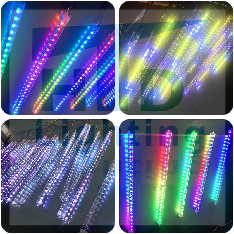 meteor shower christmas tube lights