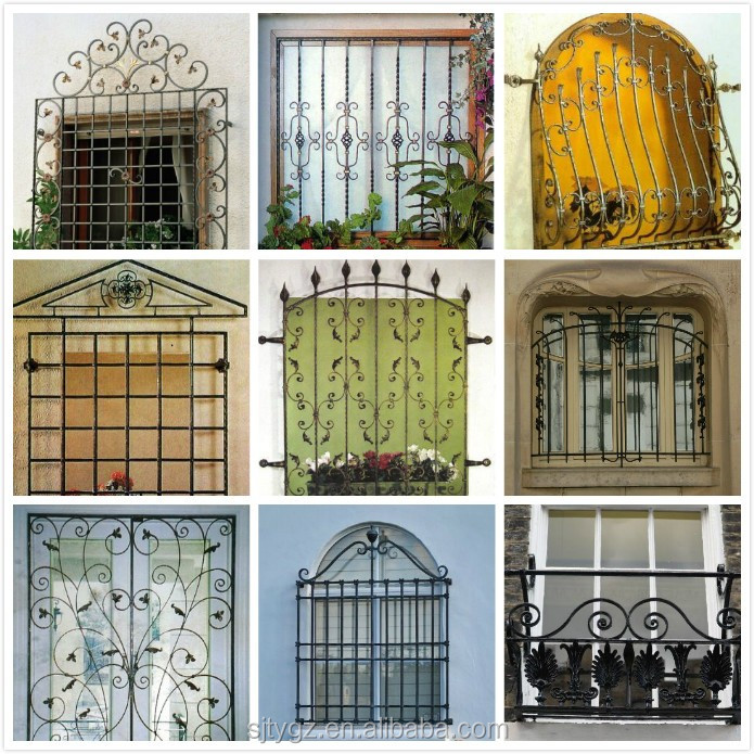 Modern Wrought Iron Window Grill Design