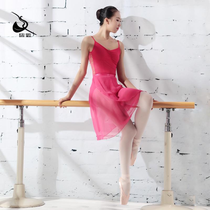 117145400 черная балетная шифоновая юбка с запахом, шифоновая юбка