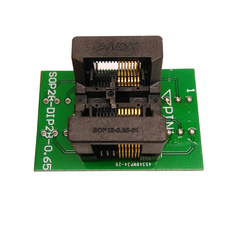SSOP14(28)-0.65 SSOP14 TSSOP14 to DIP14 Programming Socket Pitch 0.65mm IC Body Width 4.4mm 173mil Test Socket Adapter Programmer