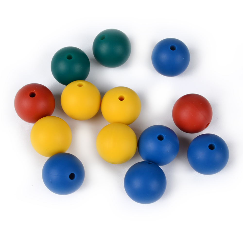 Silicone Teething Beads For Jewelry/Baby Chew Loose Beads