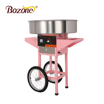 Fairy Floss Sugar Maker 72CM Boiler High Quality Pink commercial Electric cotton candy floss machine Cart