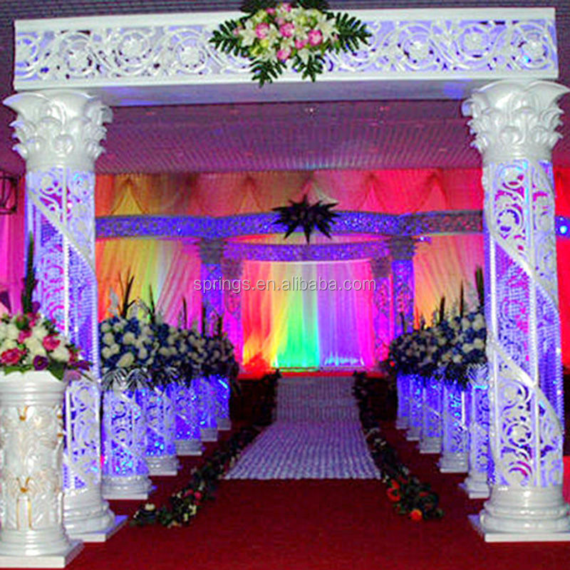 Stright Beam Crystal Columns/wedding Decorations For Sale
