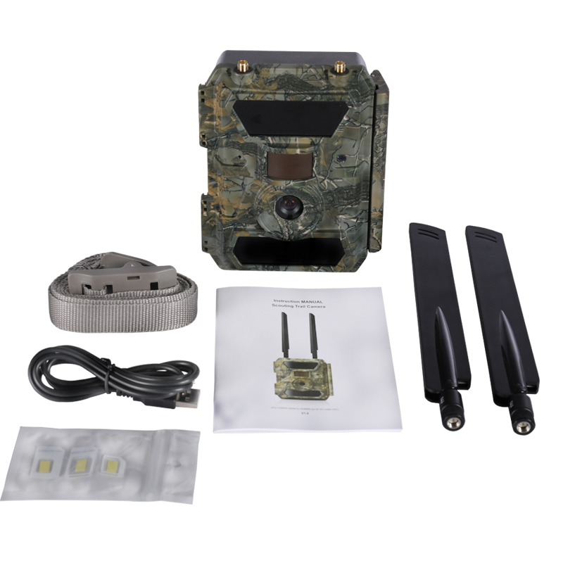 Willfine 4.0CG 4G Forest Trail Cameras with APP remote control 0.35second trigger speed 4G Wild Game Cameras