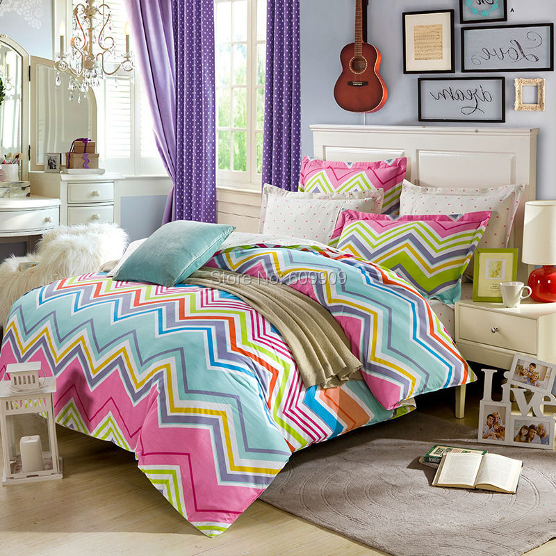 Ful Chevron Bedding Full Duvet Cover Set Linen 100 Cotton