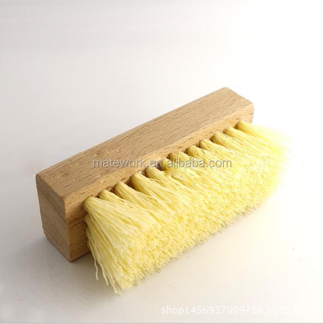 Hot stype small wooden plastic hair sneaker shoe brush