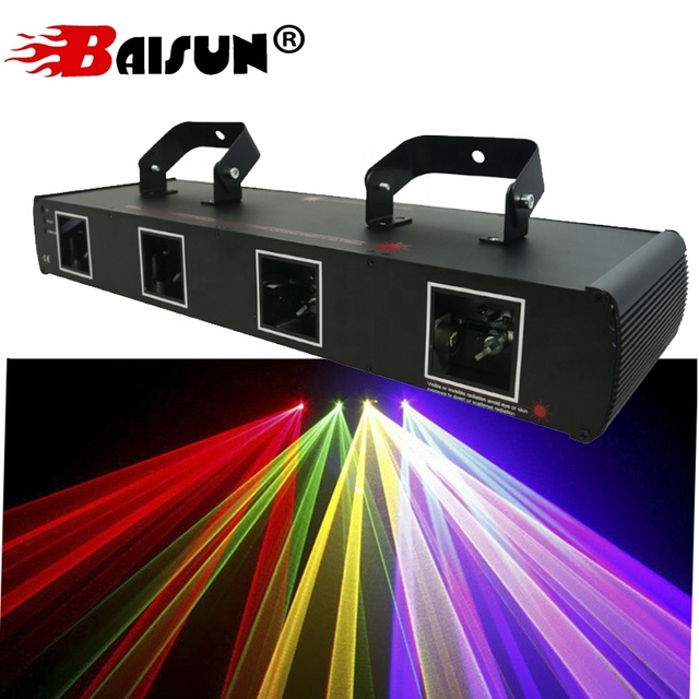 Baisun brand Guangzhou Four Head Red Green blue Laser Light DJ Disco Show Club Stage Laser Light