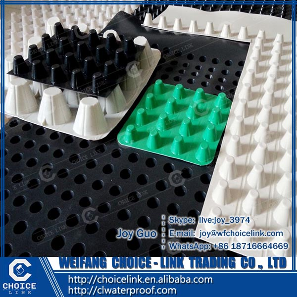 construction material high density polyethylene dimple drainage board for basement
