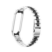 Новая продажа mi band 4 ремешок для часов Xiaomi mi Band 4 роскошный модный тренд из нержавеющей стали ремешок металлический браслет reloj # F(Китай)