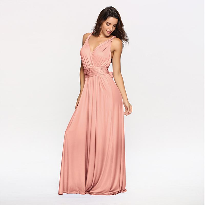 Custom New Fashion Women's Convertible Wrap Multi Way Party Long Wedding bridesmaid dress