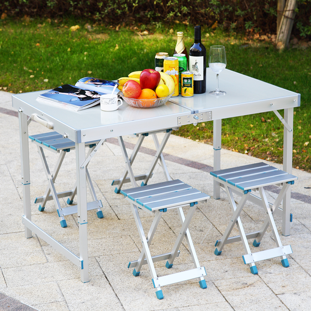 Modern Designs Outdoor Furniture Aluminium Foldable Camping Dining Table Chair Set Buy Dining Table Set Product On Alibaba Com