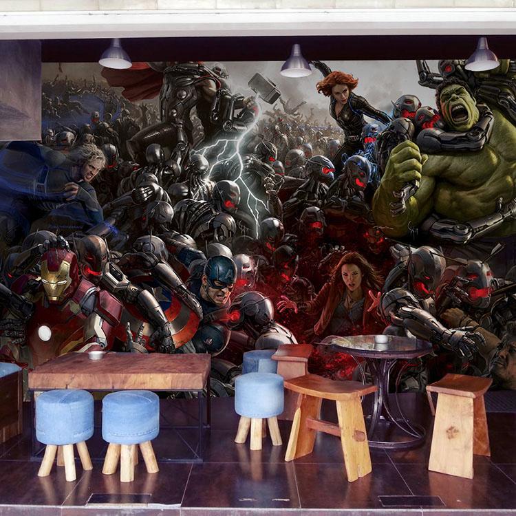 The avengers photo wallpaper 3d wallpaper wall mural iron - Wallpaper avengers 3d ...