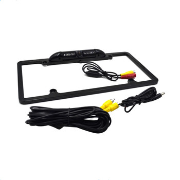 Waterproof night vision USA license plate frame backup camera