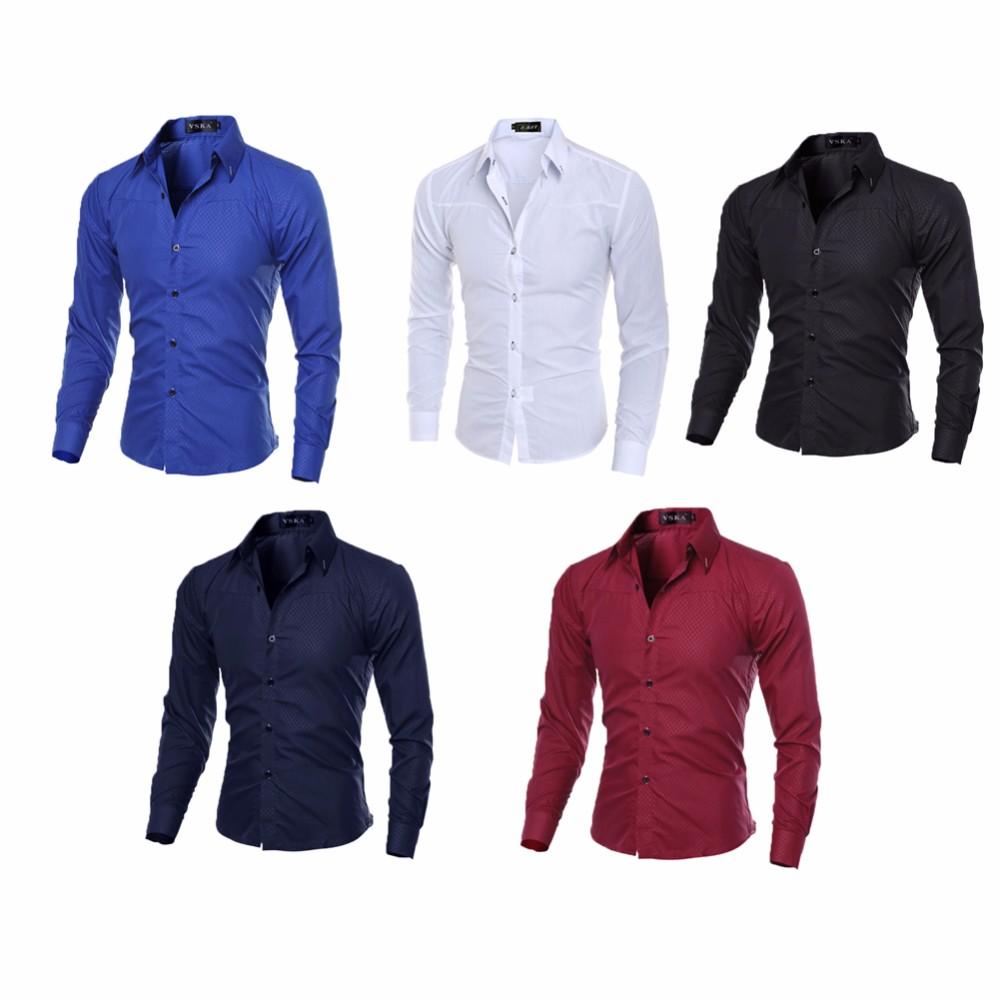 23fdbe961a Compre Moda 2017 Camisas Dos Homens De Luxo Camisas Casuais Slim Fit ...
