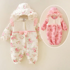 wholesale autumn winter warm newborn baby clothes organic cotton infant baby girl clothes romper toddler clothing