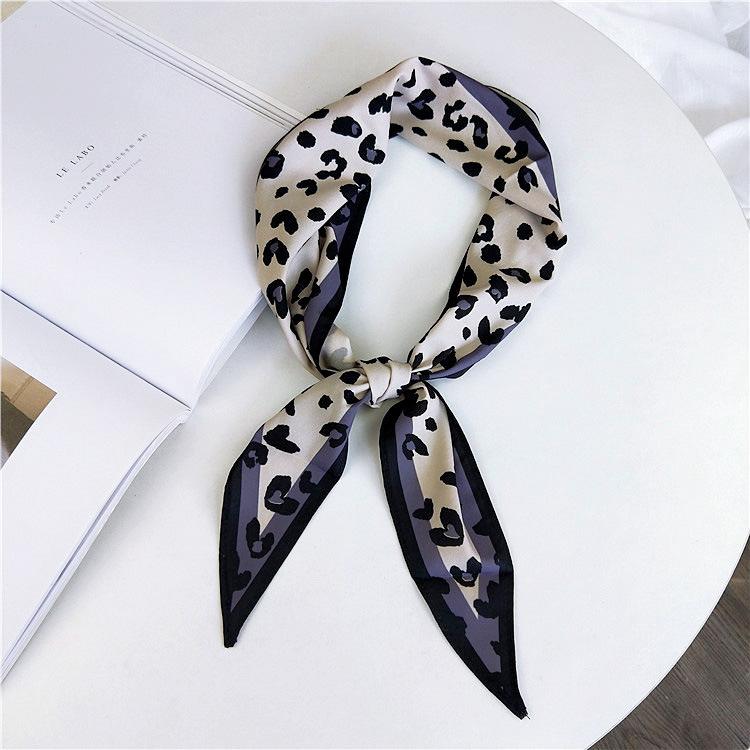 На лето и весну шейные платки аксессуары леопардовая расцветка змеиной кожи с анималистичным принтом длинный шелковый шарф для женщин