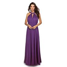 Женское платье подружки невесты, длинное скрытое плиссированное платье в пол для свадебной вечеринки, недорогое длинное платье для выпускн...(Китай)