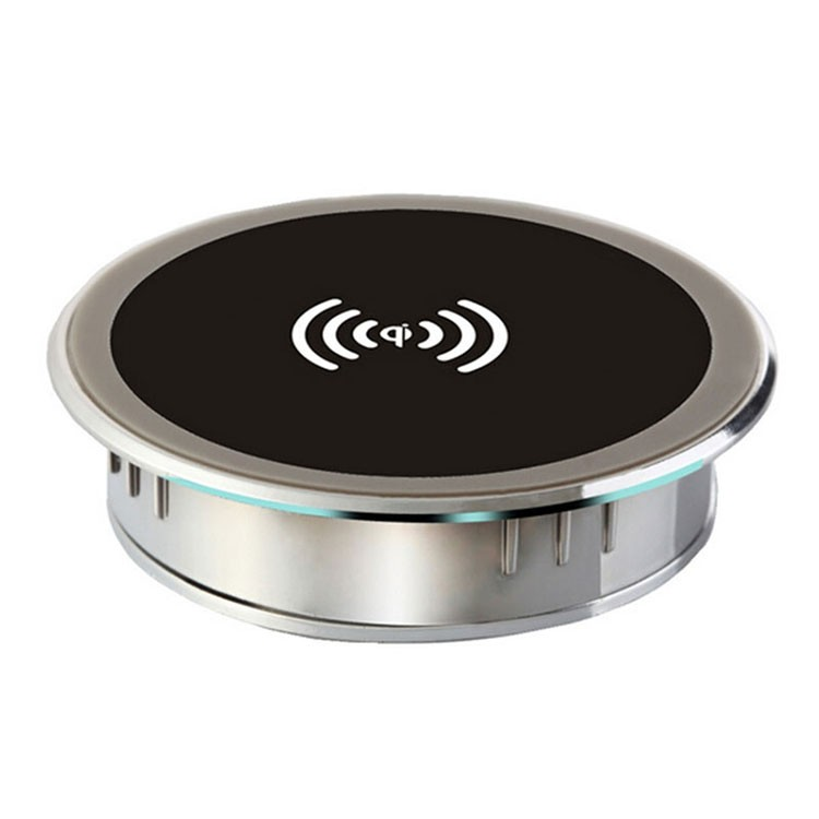new cylindric qi wireless charger charging plate portable power charging pad mini charger mat. Black Bedroom Furniture Sets. Home Design Ideas