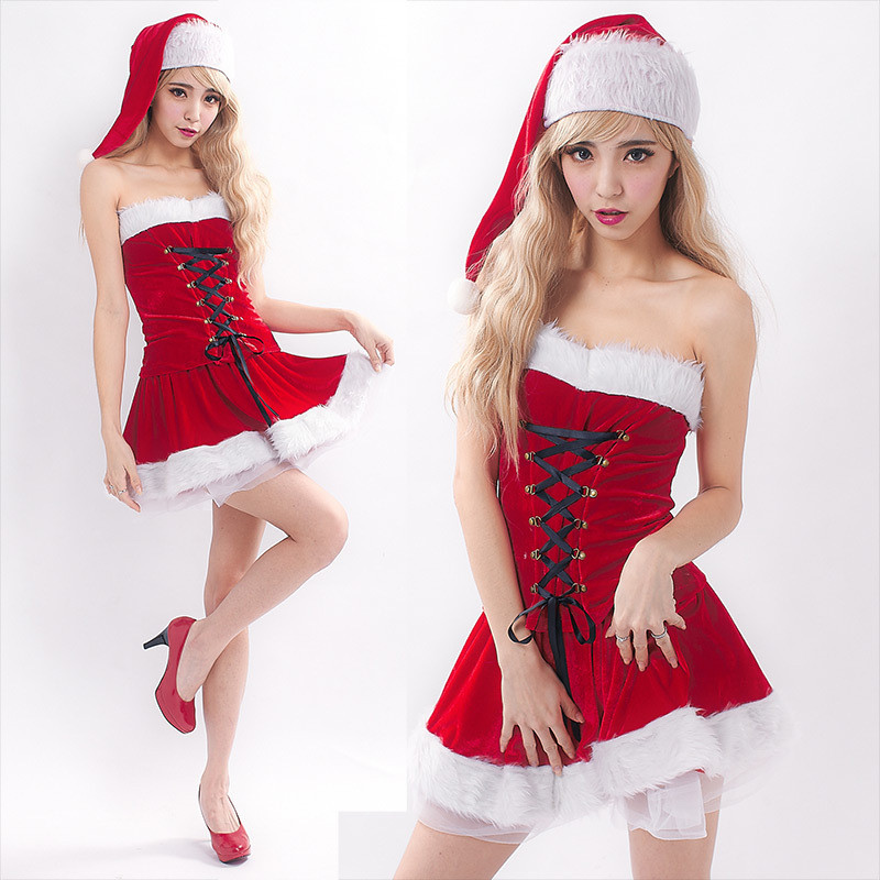 2b02c728f9c7f New Sexy Christmas Costumes Adult Female Cosplay Dance Party Uniforms  Temptation Performance Clothing