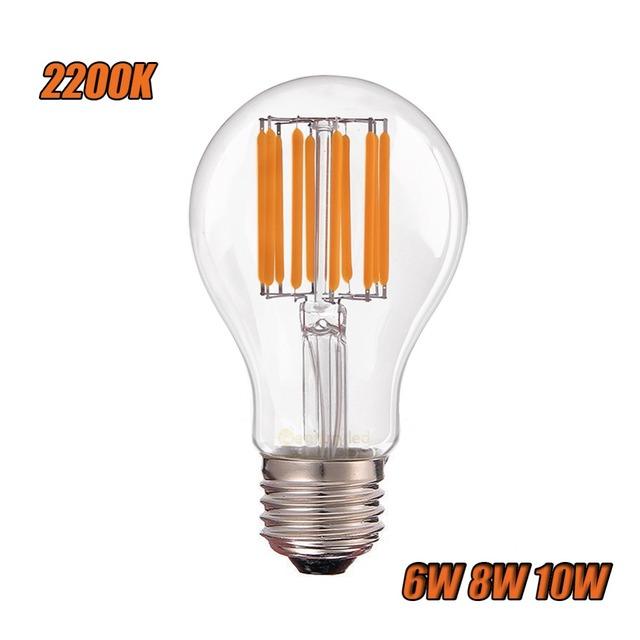 2200k cct edison a19 globe classic style 6w 8w 10w vintage led filament bulb e26 e27 base lamp. Black Bedroom Furniture Sets. Home Design Ideas
